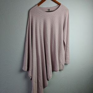 Anne Klein One Sleeve Poncho Light Pink Top
